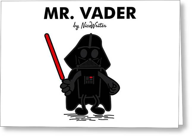 Mr Vader Greeting Card by NicoWriter