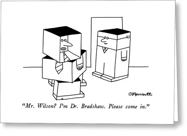 Mr. Wilson?  I'm Dr. Bradshaw.  Please Come In Greeting Card