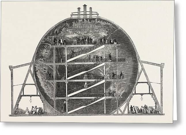 Mr. Wylds Model Of The Earth, Sectional View Greeting Card