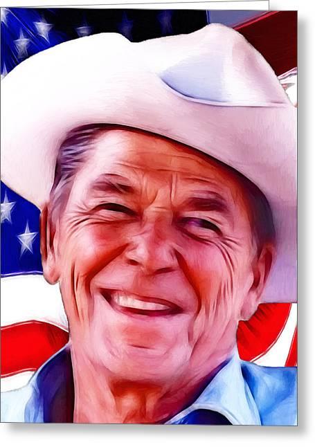 Mr.president 2 Greeting Card by Steve K