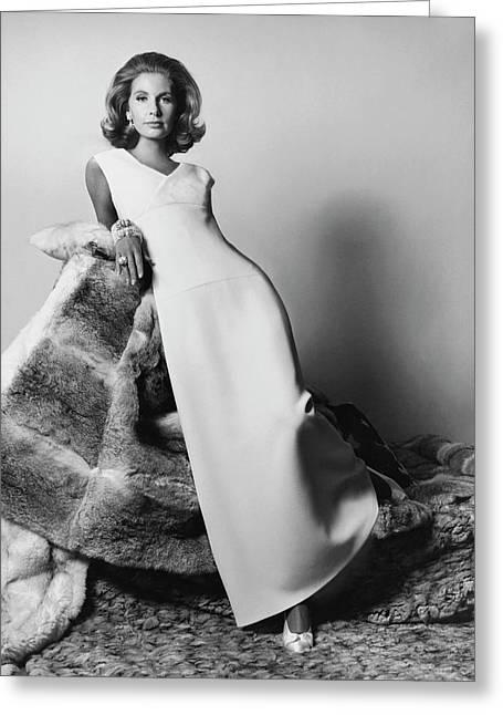 Mrs. Alfred Gwynne Vanderbilt Modeling An Evening Greeting Card by Horst P. Horst
