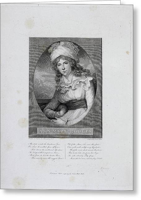 Mrs Ann Mary Hodges Greeting Card by British Library