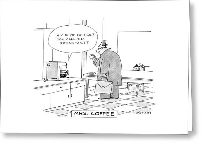 Mrs. Coffee: Greeting Card