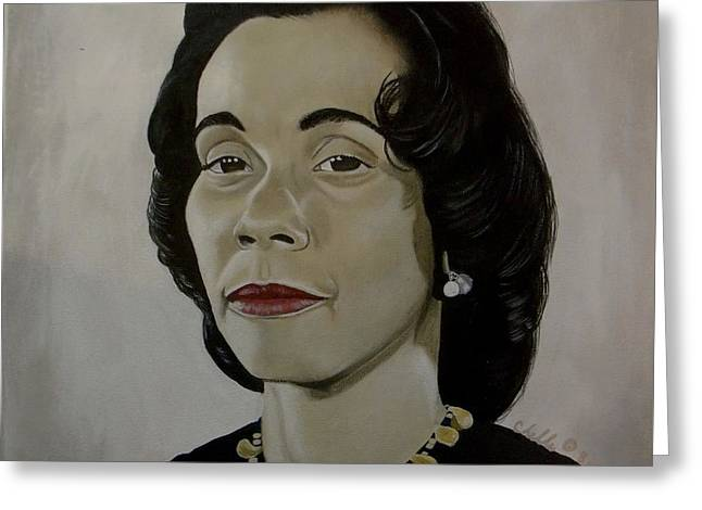Mrs. Coretta Scott King Greeting Card