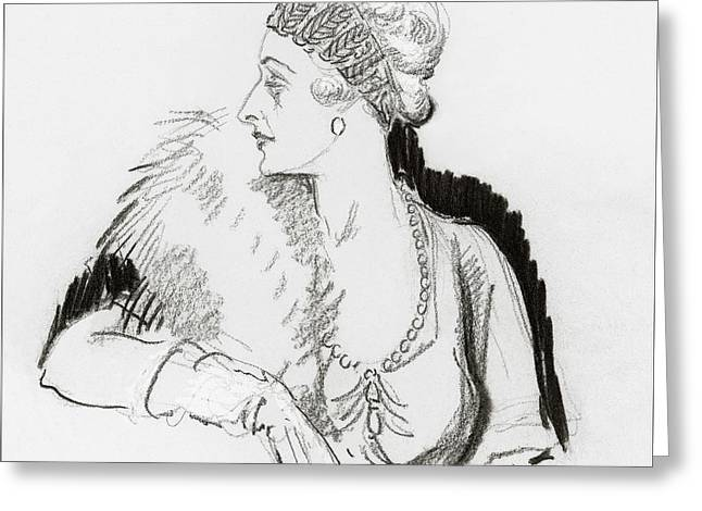 Mrs. Cornelius Vanderbilt Greeting Card by Porter Woodruff