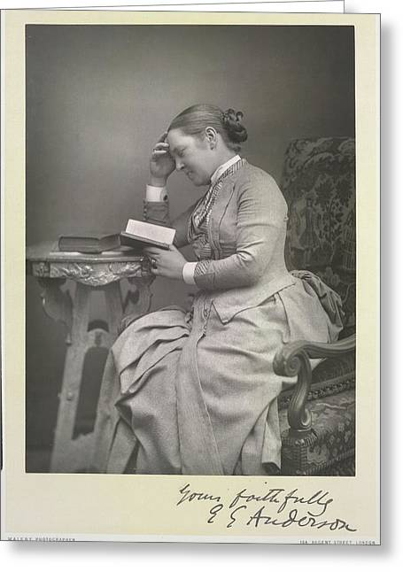 Mrs E. Garrett Anderson Greeting Card by British Library