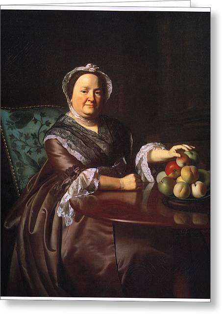 Mrs Ezekial Goldhwaite Greeting Card by John Singleton Copley