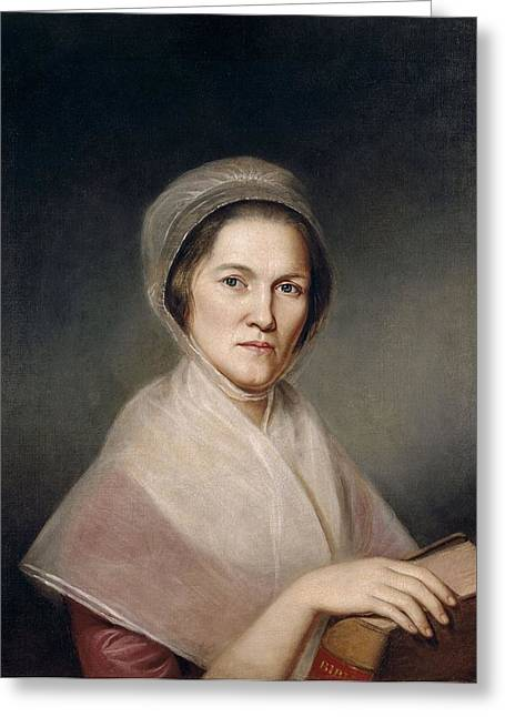 Mrs. Francis Bailey, 1791 Oil On Canvas Pair To 403021 Greeting Card by Charles Willson Peale