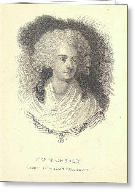 Mrs Inchbald Greeting Card by British Library