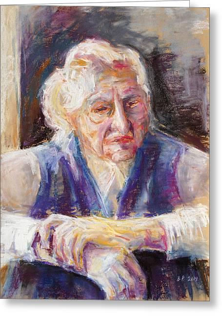 Mrs K. Remembering Greeting Card by Barbara Pommerenke