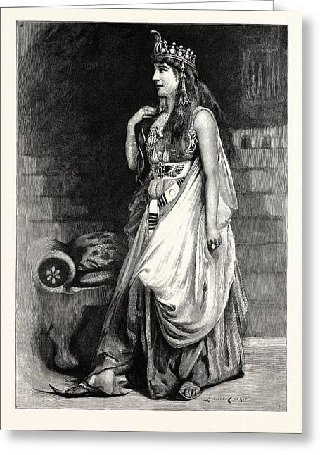 Mrs. Langtry As Cleopatra Greeting Card
