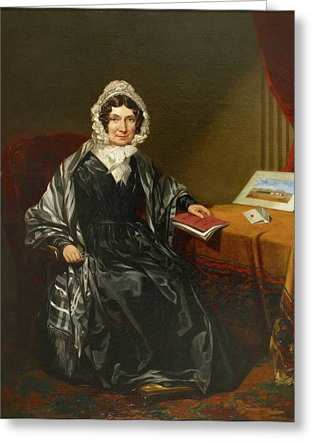 Mrs Louisa Brown Greeting Card by British Library