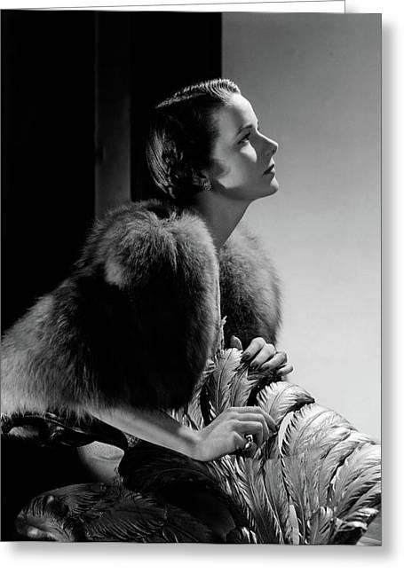 Mrs Marshall Hemingway Greeting Card by Horst P. Horst
