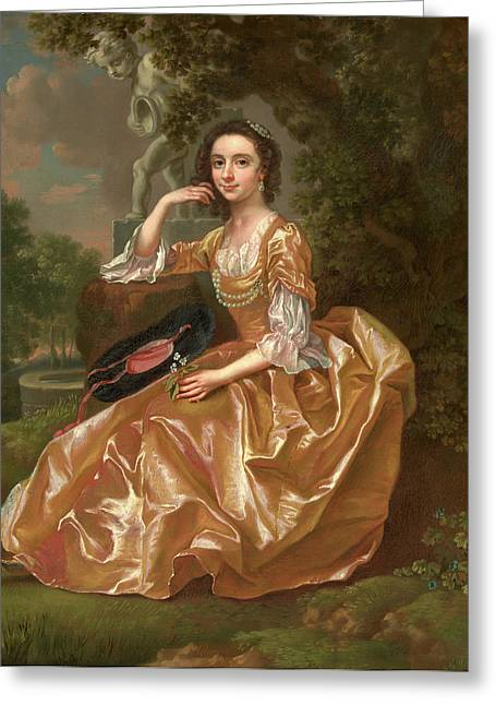 Mrs. Mary Chauncey A Young Woman Signed And Dated In Yellow Greeting Card by Litz Collection