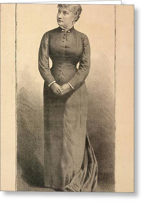Mrs. Mckee Rankin Greeting Card by British Library