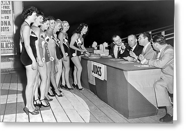 Mrs. New Jersey Contestants Greeting Card by Underwood Archives