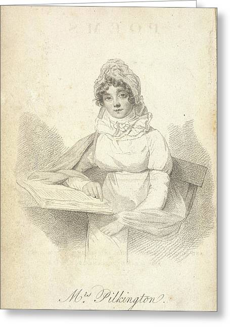 Mrs Pilkington Greeting Card by British Library