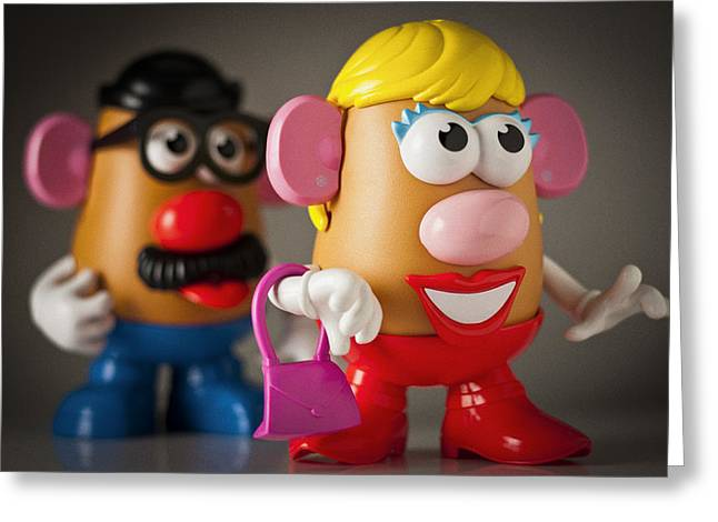 Mrs. Potato Head Greeting Card by Bradley R Youngberg