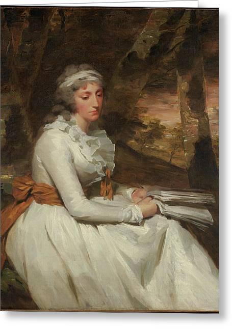 Mrs. Richard Alexander Oswald Louisa Greeting Card by Sir Henry Raeburn