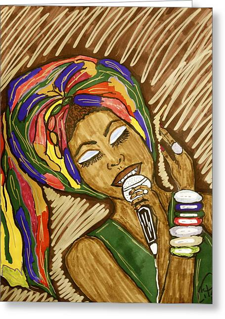 Ms. Badu Greeting Card