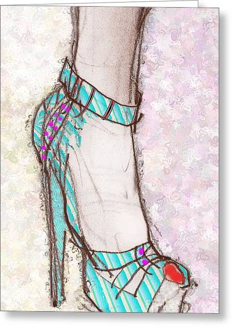 Ms. Cindy's Blue Shoe Greeting Card