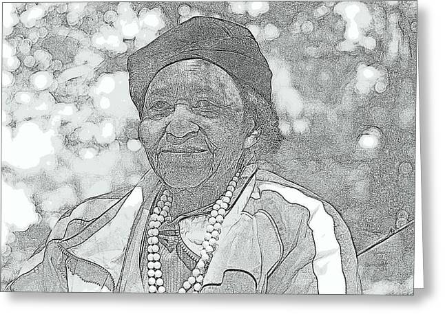 Ms. Ida  Greeting Card by Rosemarie E Seppala