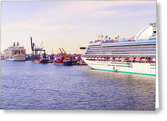 Ms Island Princess Cruise Ship Greeting Card by Panoramic Images