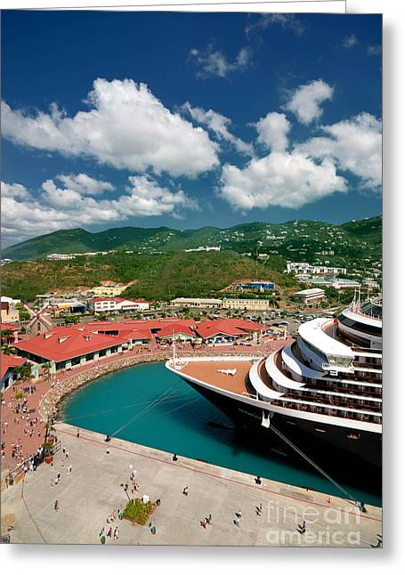 Ms Noordam St Thomas Virgin Islands Greeting Card by Amy Cicconi