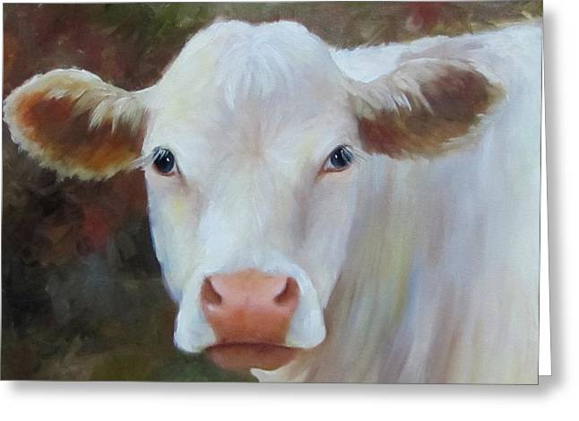 Ms Petunia Greeting Card by Cheri Wollenberg