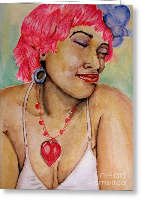 Ms Pink Greeting Card by Bill De Barber