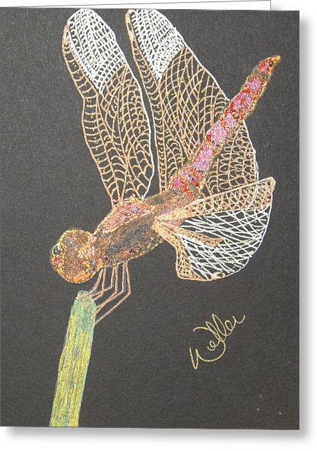 Ms Pinky Greeting Card by Marcia Weller-Wenbert