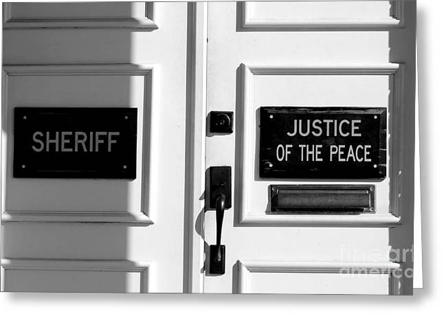 Justice Of The Peace Greeting Card by Michael Eingle