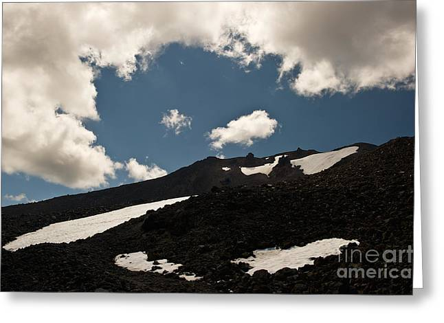 Mt. Bachelor Summit Greeting Card by Jackie Follett