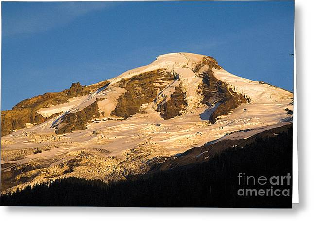 Greeting Card featuring the photograph Mt.baker At Sunset  by Yulia Kazansky