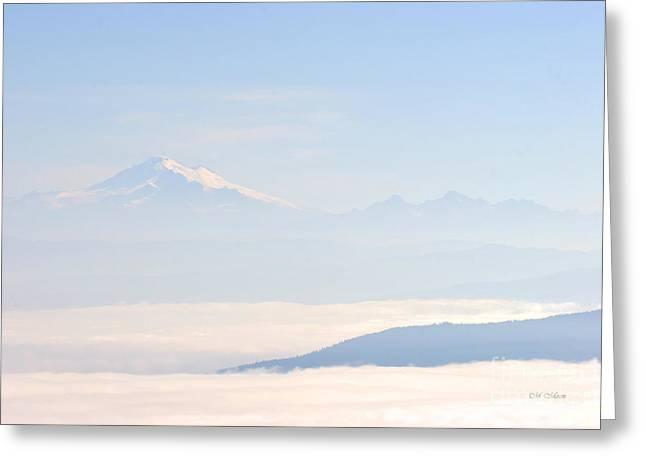 Mt. Baker From San Juan Islands Greeting Card