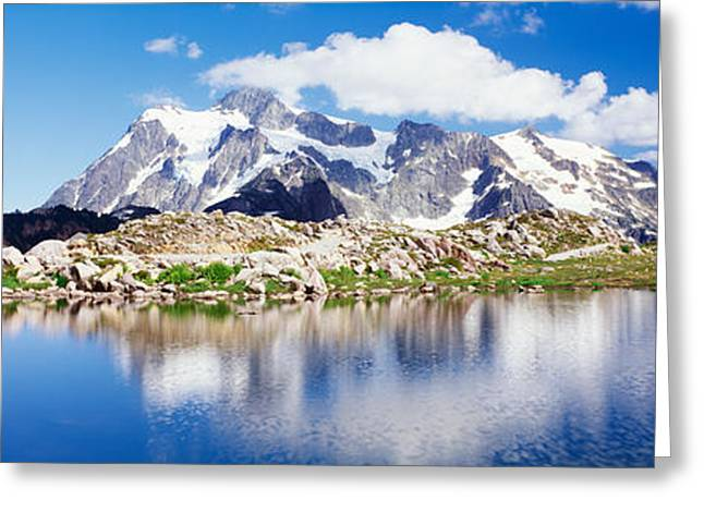 Mt Baker Snoqualmie National Forest Wa Greeting Card by Panoramic Images