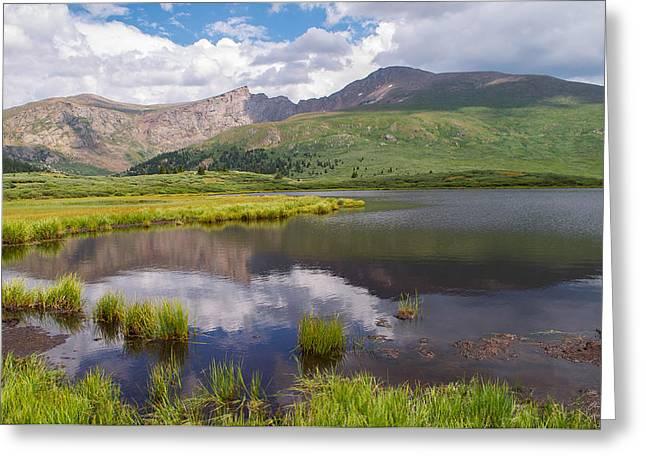 Mt. Bierstadt Greeting Card by Aaron Spong
