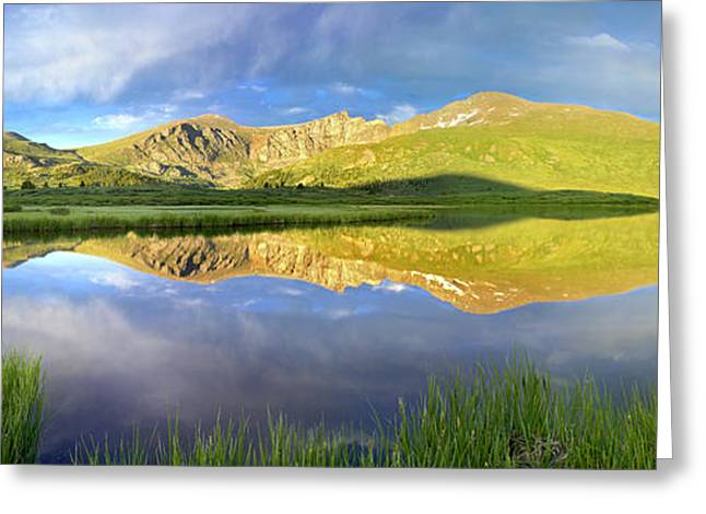 Mt Bierstadt From Guanella Pass Colorado Greeting Card by Tim Fitzharris