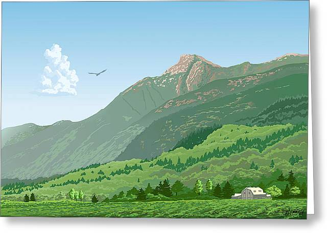 Mt Cheam In Summer Greeting Card