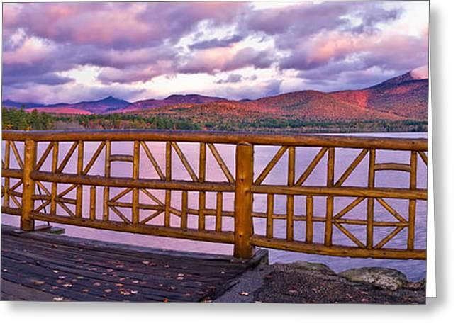 Mt Chocorua Autumn Panorama Greeting Card by Jeff Sinon