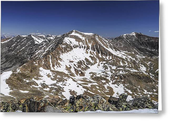 Mt. Democrat Greeting Card by Aaron Spong