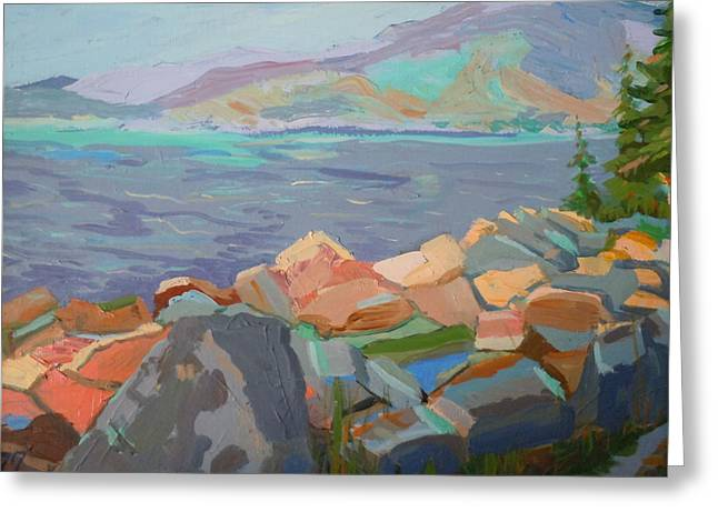 Mt. Desert From Schoodic Point Greeting Card by Francine Frank
