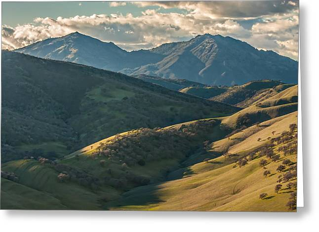 Mt Diablo And Afternoon Shadows Greeting Card