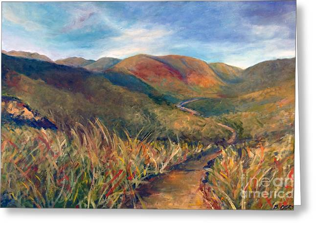 Mt. Diablo Hills Greeting Card