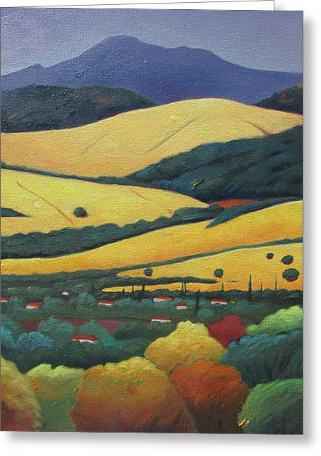 Mt. Diablo In Distance Greeting Card