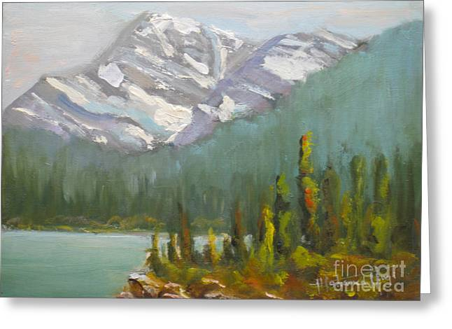 Mt. Edith Cavell Greeting Card by Mohamed Hirji