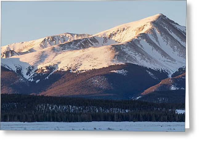 Mt. Elbert Greeting Card by Aaron Spong
