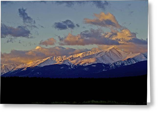 Mt Elbert Sunrise Greeting Card