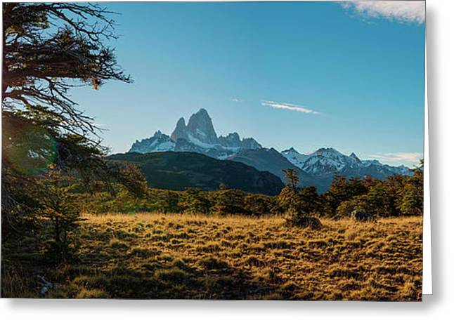 Mt Fitzroy At Dusk, Chalten, Argentine Greeting Card by Panoramic Images