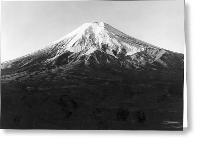 Mt. Fuji In Japan Greeting Card by Underwood Archives